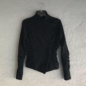 LULULEMON | Black Solace Ruched Moto Style Jacket